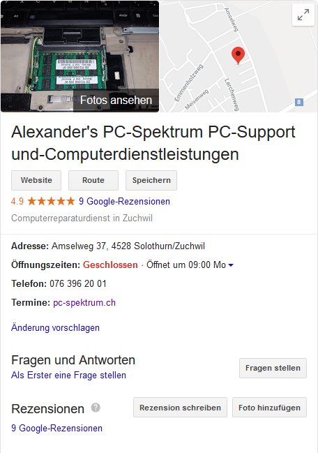 alexanders pc spektrum google rezensionen